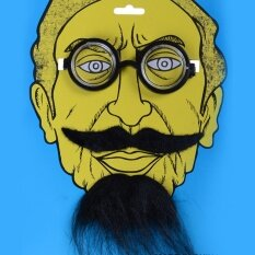 Funny Costume Party Halloween Beard Facial Hair Disguise Black Mustache Party Decoration Glasses - Intl By Kupanny.