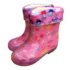 ขาย รองเท้าบวกกำมะหยี่ฤดูใบไม้ร่วงและฤดูหนาวรองเท้าฝนเด็ก ถูก