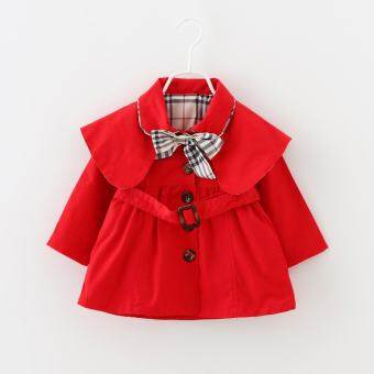 หญิงลายสก๊อตเสื้อกันลมน่ารักเด็กเสื้อเด็กน่ารัก Western แฟชั่น Outerwear - นานาชาติ-