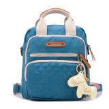 ซื้อ Haotom Multifunction Large Capacity Canvas Baby Diaper Bag Blue Unbranded Generic ออนไลน์