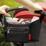 ซื้อ Haotom Multifunctional Waterproof Baby Stroller Bag Organizer Baby Car Hanging Basket Storage Stroller Accessories Black ออนไลน์ ถูก