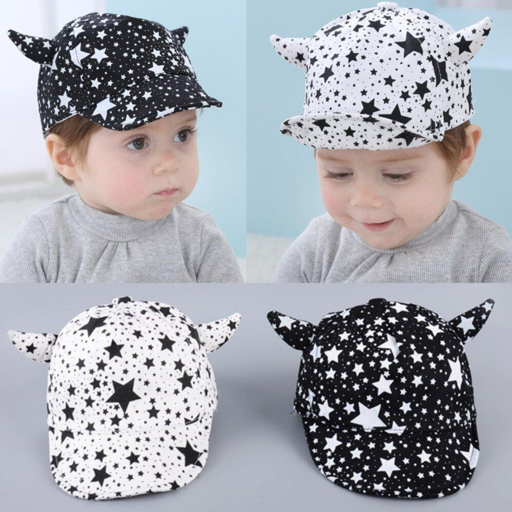 Haotom 3-24months Summer Style Baby Hat infant Caps Letter Children Baseball Caps Boys & Girls Peaked Hats Sun Hats  white-STAR (Intl)