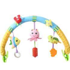 ทบทวน Happy Baby Multi Functional Toys Clips โมบายติดรถเข็นลายปลาและเพื่อน Happy Baby