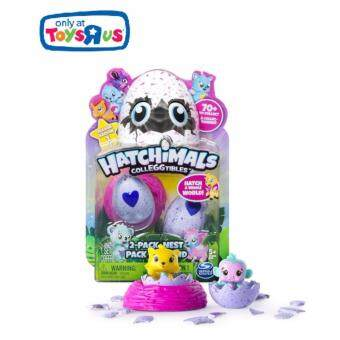 ของเล่น - ไข่ตุ๊กตา Hatchimals พร้อมลัง - HATCHIMALS COLLEGGTIBLES 2PACK PLUS NEST - SPINMASTER - TOYSRUS EXCLUSIVES (TRU-65245)