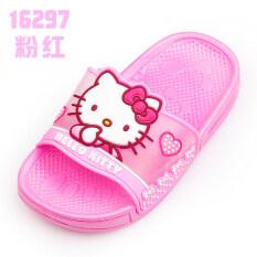 ราคา Hello Kitty เด็กด้านล่างนุ่มสาวน่ารักรองเท้าแตะและรองเท้าแตะลื่นรองเท้าแตะรองเท้าแตะ ที่สุด