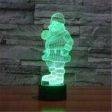ซื้อ สีสันสดใสยูเอสบี 3D ซานตา Claus Snowman ห้องนอน Officetable โคมไฟเด็กกลางคืนไฟของขวัญคริสต์มาส 3D Td136 นานาชาติ Unbranded Generic เป็นต้นฉบับ