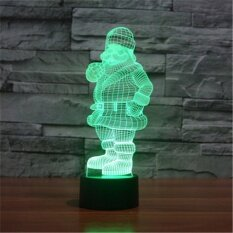ทบทวน ที่สุด สีสันสดใสยูเอสบี 3D ซานตา Claus Snowman ห้องนอน Officetable โคมไฟเด็กกลางคืนไฟของขวัญคริสต์มาส 3D Td136 นานาชาติ