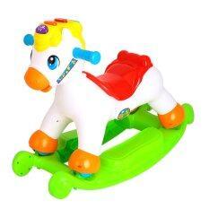 ราคา Huile ม้าขาไถ โยกเยก 3In1 Huile Toys Happy Rocking Pony ใหม่