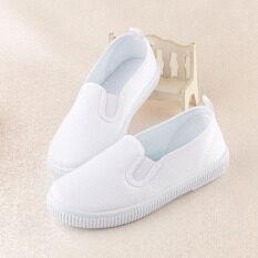 ส่วนลด สินค้า สีขาวรองเท้าเด็กนักเรียน