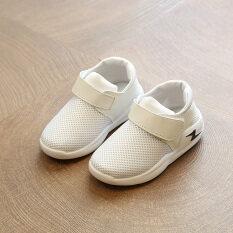 ซื้อ รองเท้าวิ่งสีขาวรองเท้ากีฬาฤดูใบไม้ร่วงใหม่เด็กชาย Other ออนไลน์