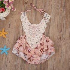 ราคา Infant Baby Girls Lace Floral Bodysuit Summer Romper Clothes Jumpsuit Intl Unbranded Generic ออนไลน์