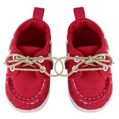 ขาย รองเท้าเด็กอ่อนเปล สีแดง