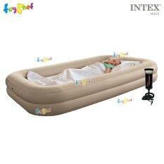 ขาย Intex ที่นอน เด็ก เป่าลม แค้มป์ แคมป์ปิ้ง ปิคนิค 107X168X25 ซม พร้อมที่สูบลมดับเบิ้ลควิ๊ก วัน และถุงผ้า Intex รุ่น 66810 Intex ผู้ค้าส่ง