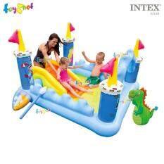 ราคา Intex สระน้ำ เป่าลม สวนน้ำสไลเดอร์ แฟนตาซี คาสเซิล รุ่น 57138 Intex