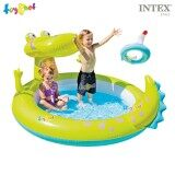ขาย Intex สระน้ำ เป่าลม น้ำพุ จระเข้แสนกล สีเขียว รุ่น 57431