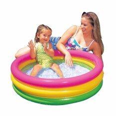 ซื้อ Intex Baby Pool สระน้ำ อ่างเป่าลมซันเซ็ตโกลว์เบบี้ 34 นิ้ว 86 ซม รุ่น 58924 ออนไลน์ ถูก