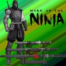ราคา Japan ดาบชุดญี่ปุ่น ซามูไร คาตานะ มี 3 เล่ม 3 ขนาด Katana Samurai Ninja Sword แท่นวาง ใหม่ล่าสุด