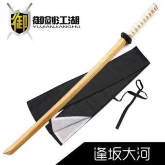 JAPAN ดาบไม้ซามูไร bokken งานคุณภาพผลิตจากไม้เนื้อแข็ง (เพิ่มสายเชือกห่อรอบที่จับ)