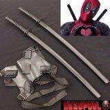 ราคา Japan ดาบคู่ซามูไรญี่ปุ่น Black Sword มี 2 เล่ม ที่สะพายดาบคู่ ใหม่ ถูก