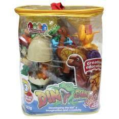 ขาย Jdlt บล็อคตัวต่อ ชุดหุบเขาไดโนเสาร์ 63 Pcs Dinosaur Valley Jun Da Long Toys