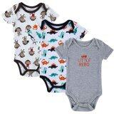 ซื้อ Jiayiqi 3 Piece 12 Months Baby Bodysuits Cute Animal Jumpersnrompers Intl