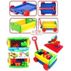 ขาย ซื้อ ออนไลน์ Jkp Toys ของเล่นเสริมพัฒนาการ บล็อกตัวต่อจัมโบ้ 30 ชิ้น พร้อมรถลาก