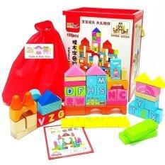 โปรโมชั่น Jkp Toys ของเล่นไม้ เสริมพัฒนาการ บล็อคไม้ ลาย Abc 100 ชิ้น
