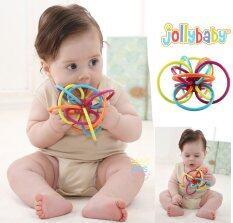 Jolly Baby ยางกัดเส้นทำความสะอาดและนวดเหงือกเด็กของแท้.