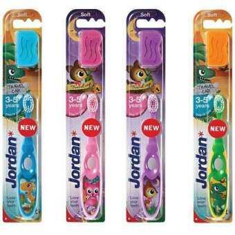 Jordan แปรงสีฟันจอร์แดน สเต็ป 2 สำหรับเด็กอายุ 3-5 ปี จำนวน 2 ด้าม (คละลายเด็กหญิง)-