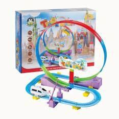 J.toys Track Racerชุดรางรถไฟตีลังกา จำนวน32ชิ้น .