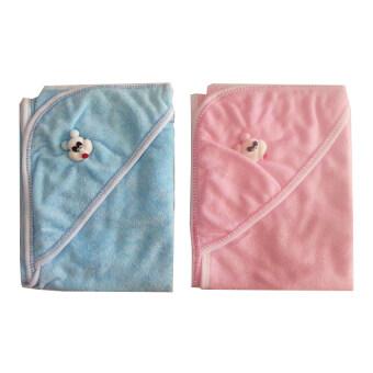 JUJUผ้าข่นหนูห่อตัวเด็ก แพ็ค 2 ชิ้น (สีชมพู/ฟ้า)