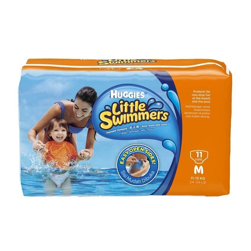 แนะนำ กางเกงผ้าอ้อมว่ายน้ำ Huggies Little Swimmers Size M