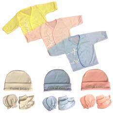 ขาย Kamphu เสื้อแขนยาว หมวก ถุงมือ ถุงเท้า เด็กหญิง เด็กชาย เด็กทารก เด็กแรกเกิด 3 เดือน แพค 3 เซต ใน กรุงเทพมหานคร