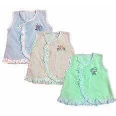 ราคา Kamphu ชุดเสื้อเด็กอ่อนแรกเกิด เด็กเล็ก เสื้อผ้าป่าน แบบผูกหน้า เด็กหญิง แพ็ค 3 ตัว Aaa เป็นต้นฉบับ