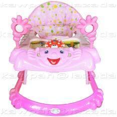 ราคา K Baby รถหัดเดิน รูปเด็กยิ้ม ของเล่น เสียงดนตรี ปรับระดับได้ สีชมพู ราคาถูกที่สุด