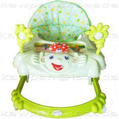 ราคา K Baby รถหัดเดิน รูปเด็กยิ้ม ของเล่น เสียงดนตรี ปรับระดับได้ สีเขียว ใน ชลบุรี