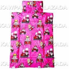 K.baby ที่นอนเด็กอนุบาลไปโรงเรียน ลายการ์ตูน สีชมพู คละลาย.