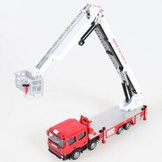 ส่วนลด Kdw 1 50 Scale Diecast Aerial Fire Truck Construction Vehicle Cars Model Toy Intl Unbranded Generic จีน