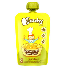 โปรโมชั่น ขายยกลัง Peachy อาหารเสริมสำหรับทารกและเด็กเล็ก ซุปข้าวโพดไก่ 125 กรัม ทั้งหมด 7 ถุง กรุงเทพมหานคร