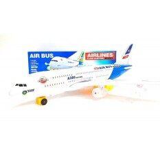 Kid Toys ของเล่นเด็ก เครื่องบิน จำฃอง Air Bus A380 วิ่งชนแล้วถอย มีเสียง มีไฟ  .