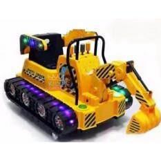 ขาย ซื้อ ออนไลน์ Kids Castle รถแบตเตอรี่แม็คโครรถตักโยกได้บังคับตักได้ 2แบต 2มอเตอร์