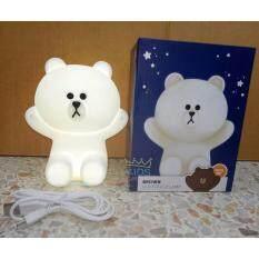 ราคา Kids Castle โคมไฟหมีบราวน์แบบมินิตัวนิ่มจับไม่ร้อนชาร์ทไฟได้ ใหม่ล่าสุด