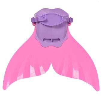 เด็กผู้หญิง Swimmable เงือกหาง Monofin MONO ครีบ Flippers ชุดว่ายน้ำ-