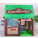 ราคา Kids Outdoor Play Tent Foldable House Style For Boys Green Intl Dreamsbrand