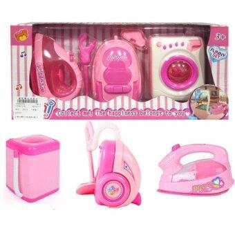 Kids Toys ชุดของเล่นเด็ก 3 in 1 เตารีด + เครื่องซักผ้า + เครื่องดูดฝุ่น