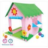 ราคา เต็นท์เด็ก เต๊นของเล่น เต๊นบ้าน แฮปปี้โฮม Kidsmania 80X100X110 Cm เป็นต้นฉบับ