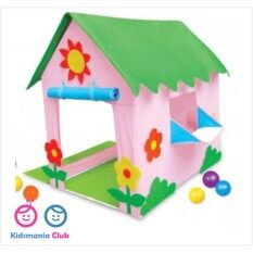 ซื้อ เต็นท์เด็ก เต๊นของเล่น เต๊นบ้าน แฮปปี้โฮม Kidsmania 80X100X110 Cm No Brand เป็นต้นฉบับ
