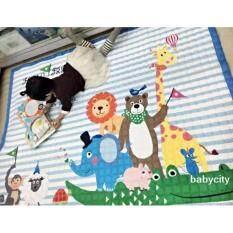 โปรโมชั่น เสื่อรองคลาน เบาะรองคลาน ที่นอนเด็กอ่อน ของเล่นเสริมพัฒนาการ ที่นอนเด็กแรกเกิด ที่นอนเด็กอ่อน เบาะนอนทารก ที่รองคลาน Korea Baby สีฟ้า Babycity