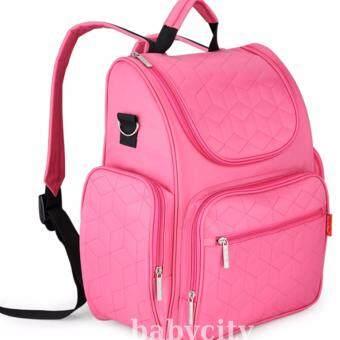 กระเป๋าใส่ขวดนม กระเป๋าแม่ลูกอ่อน ของใช้เด็กอ่อน ของใช้เด็ก เตรียมของของใช้ทารกแรกเกิด กระเป๋าสะพายหลัง สีชมพู