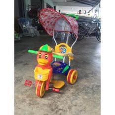 ซื้อ Kunkidshop จักรยานสามล้อหน้าเป็ด มีมือจับ มีร่ม มีดนตรี Thailand